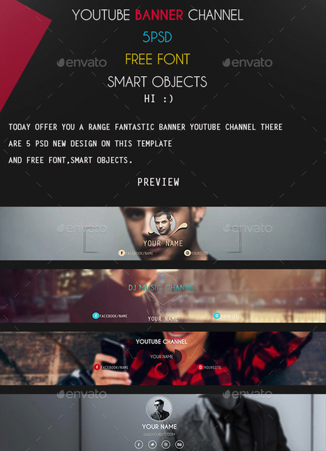 30+ New YouTube Layout Banner Templates PSD 2016 - Designsave.com | Mance Creative - Graphic and Website Design | Scoop.it