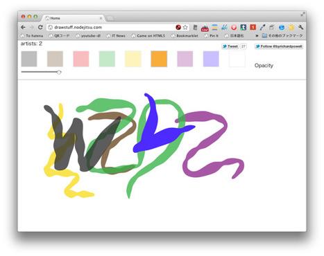 植物のような線が描けるコラボレーションイラストレーション「draw」 | EEDSP | Scoop.it