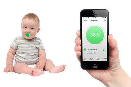 Pacifi, la tétine connectée qui prend la température de bébé | Connected-Objects.fr | systemes d'information de santé | Scoop.it
