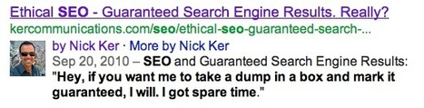 10 second lesson in SEO: Choose interesting meta descriptions to increase click through | Real SEO | Scoop.it