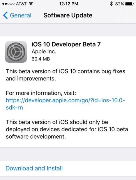 What's New iOS 10 Beta 7 Download for iPhone/iPad | Cydia Tweaks & Jailbreak News | Scoop.it