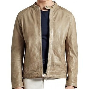 Strap Collar Slim Fit Real Leather Jacket | Halloween Jackets | Scoop.it