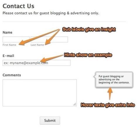 10 Best Practices for Web Forms | Website Content & Rank Engineering | Scoop.it