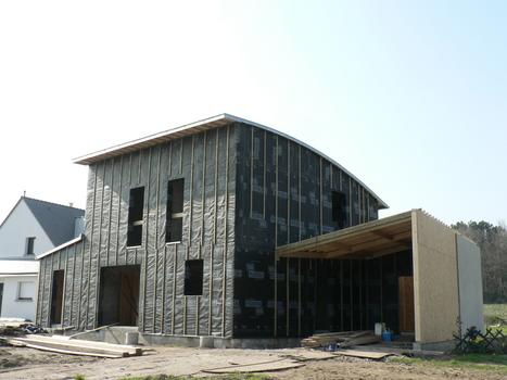 Carnet de chantier N°09- 02 / construction d'une maison RT 2012 ( à Ossature mixte bois/béton ) à Sulniac, Morbihan   architecture..., Maisons bois & bioclimatiques   Scoop.it