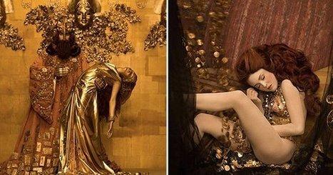Les plus belles œuvres de l'artiste autrichien Gustav Klimt recréées en photos : c'est l'idée sublime de la photographe Inge Prader   Ressources pédagogiques : la veille du CDI LEAP Lestonnac   Scoop.it