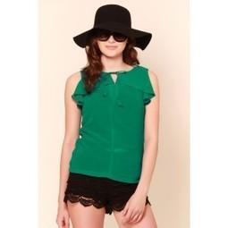 Garden Fresh Green Frilly Top   Online shopping for women   Scoop.it