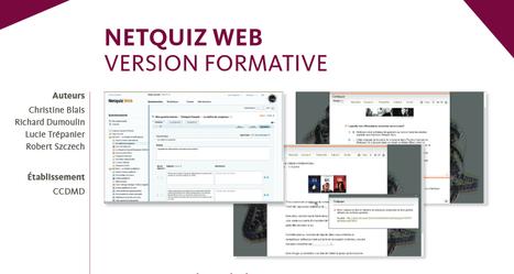 Netquiz Web, pour créer des évaluations - Canopé Amiens | Ressources informatique et classe | Scoop.it