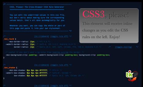 """CSS3 Please: """"le"""" générateur de CSS3   Ce qui m'intéresse   Scoop.it"""