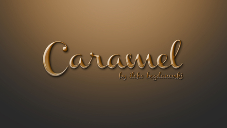 Create a Caramel Text Effect in Photoshop | The Official Photoshop Roadmap JournalP | Scoop.it