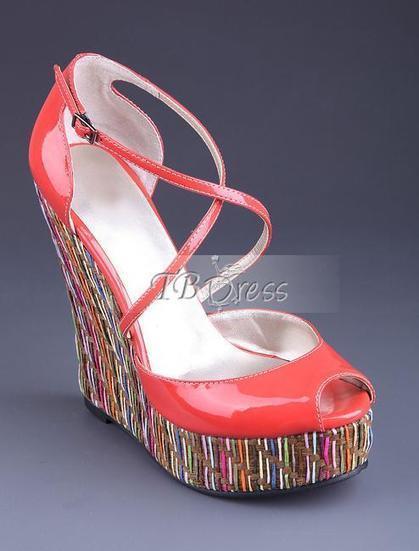 Beautiful PU Wedge Heels Platform Peep-toe Sandals   FASHION-BEAUTY-CLOTHES-GIRL   Scoop.it
