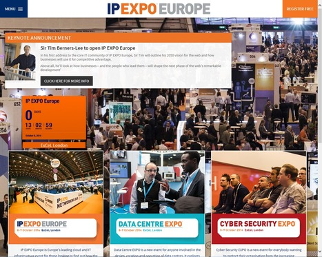 IP EXPO Europe 2014 - 8 - 9 October 2014 - ExCeL - London - The ONE place where technology works together | Data Centre - Events & Activities | Scoop.it