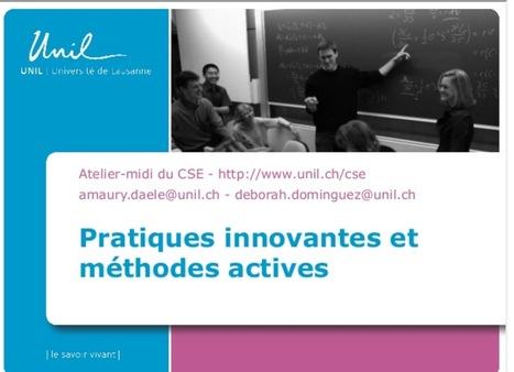 Découvrir 12 pratiques pédagogiques actives pour l'enseignement supérieur | ENT | Scoop.it