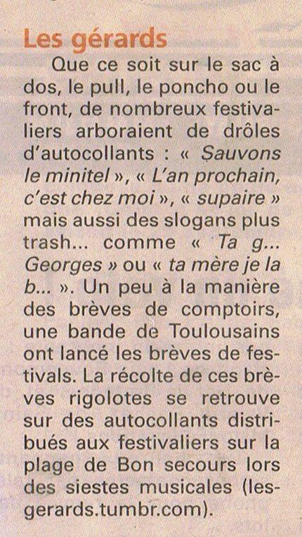 La Route du Rock #21 - Les Gérards  | LE PAYS MALOUIN | Les Gérards | Scoop.it
