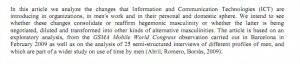 La influencia de las TIC sobre el tiempo y las masculinidades (Abril y Romero) | Cuidando... | Scoop.it