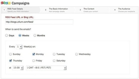 Zoho: From Blog to Email automatically, With RSS Feed Campaigns | RSS Circus : veille stratégique, intelligence économique, curation, publication, Web 2.0 | Scoop.it