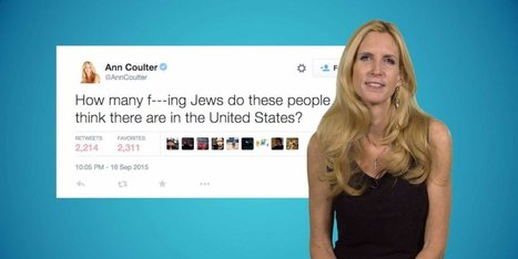 Ann Coulter defends her controversial tweet about Jews   SocialPsy.   Scoop.it
