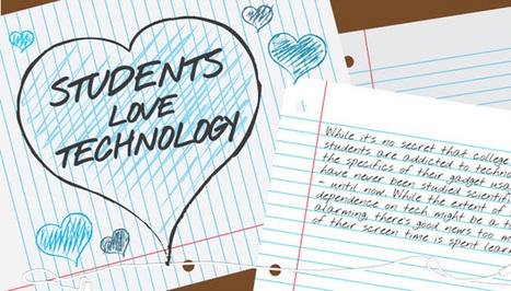 Infographie - Les étudiants sont fans de technologie | Nouvelles tech & éducation | Scoop.it
