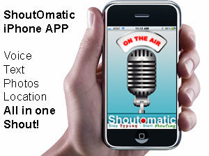 ShoutOmatic: Audible Shout-Outs: Stop Typing, Start Shouting! | technologies | Scoop.it
