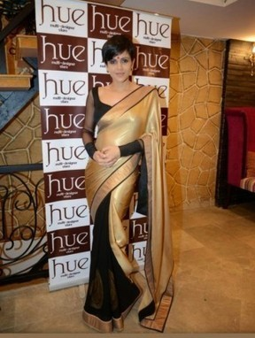 Mandira Bedi In Black And Golden Saree - giftadi | Gifting Zone | Scoop.it