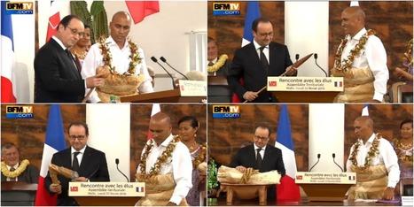 Les petites blagues de François Hollande en recevant des armes en cadeau à Wallis-et-Futuna - Le Lab Europe 1 | Communication politique & cie | Scoop.it