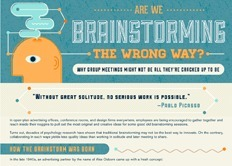 Infographic: Are We Brainstorming the Wrong Way? | visual data | Scoop.it