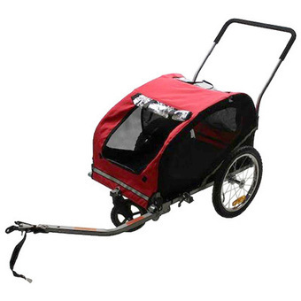 3-Wheel Convertible Bicycle Pet Trailer/Stroller - Red|Meijer.com | Dog Strollers For Small Dogs | Scoop.it