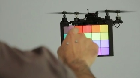 BitDrones: Das Touch-Interface mit fliegenden Pixeln | 21st Century Innovative Technologies and Developments as also discoveries, curiosity ( insolite)... | Scoop.it