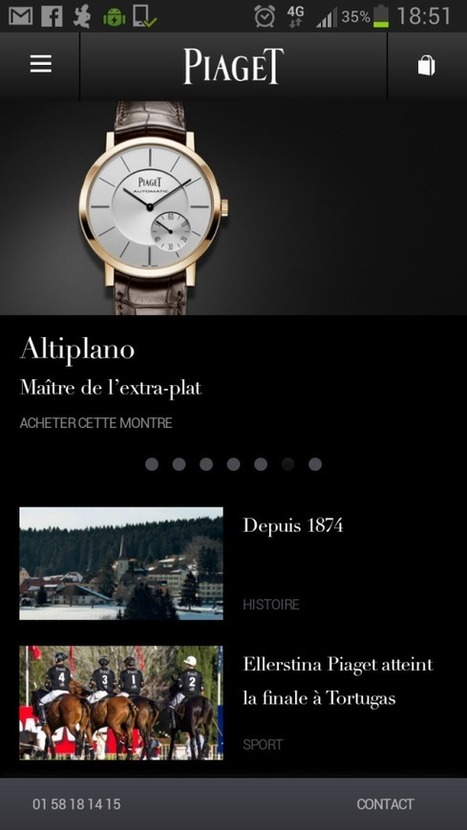 [HORLOGERIE] Piaget se lance sur le m-commerce | Luxe 2.0 | Scoop.it