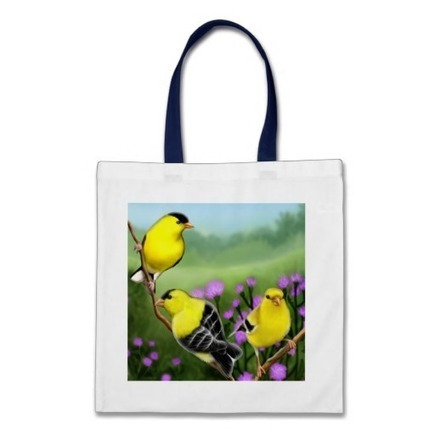 Wild American Goldfinches Bag from Zazzle.com | Messenger Bags, Purses & Totes | Scoop.it