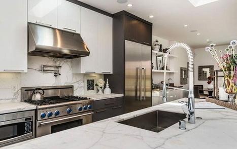39 cuisine en marbre blanc 39 in architecture design et d coration - Marbre blanc calacatta ...