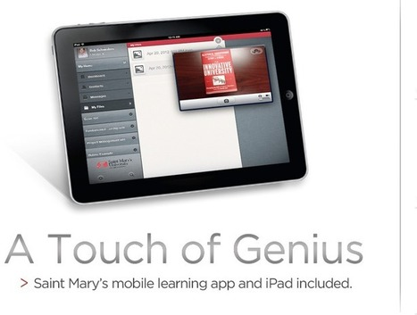 A Touch of Genius | Saint Mary's University | Curtin iPad User Group | Scoop.it