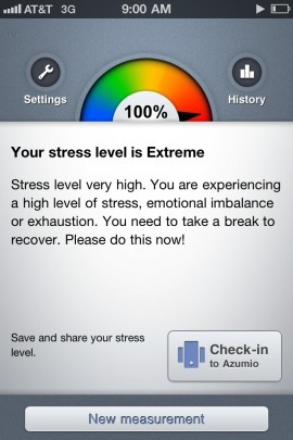 Azumio app turns iPhone into a stress gauge | healthcare technology | Scoop.it
