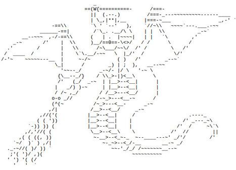 Diganta's World: ASCII Art Dragon Rider | ASCII Art | Scoop.it