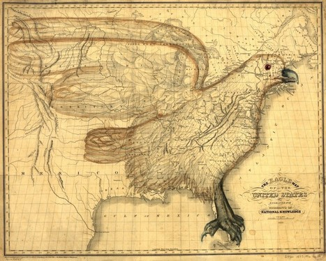 "The Hyper-Patriotic 1833 ""Eagle Map of the United States"" 
