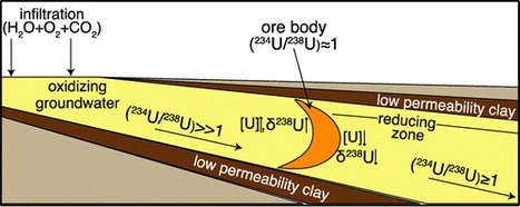 Isotopic Evidence for Reductive Immobilization of #Uranium Across a Roll-Front Mineral Deposit   Mineralogy, Geochemistry, Mineral Surfaces & Nanogeoscience   Scoop.it