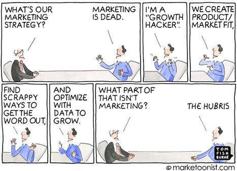 """Growth Hackers"" cartoon | Tom Fishburne: Marketoonist | Curation Inbound Marketing | Scoop.it"