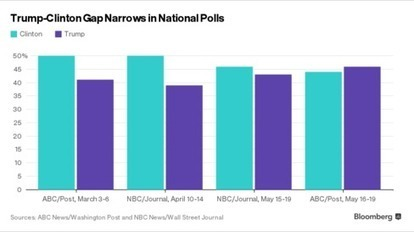 Bloomberg: Why Recent National Polls Should Worry Hillary Clinton | USF in the News | Scoop.it