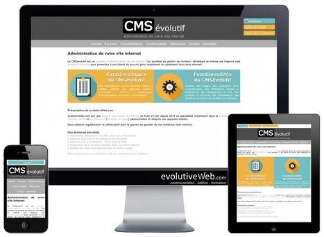Refonte du site internet vitrine présentant le CMSévolutif - Actualités - evolutiveWeb.com | Actus de l'agence, infos et conseils en e-communication et entrepreunariat | Scoop.it