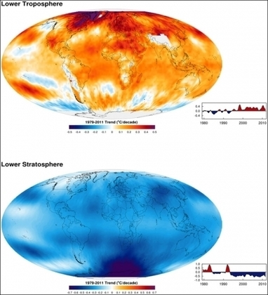 New Evidence of Human Influence on Global Warming - Troposphere warms and stratosphere cools | Science Communication from mdashf | Scoop.it