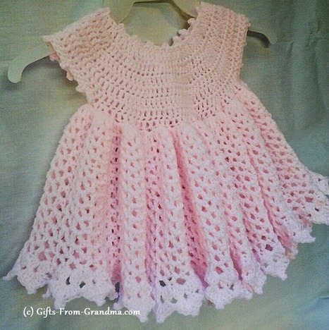 Free Crochet Patterns and Designs by LisaAuch: Easy Crochet Baby Dress Pattern (Free) - Taking the next step in your Crocheting Journey | Crocheting for my family | Scoop.it