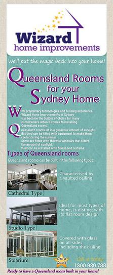 Queensland Rooms to Your Sydney Home | Wizard Home Improvements | Scoop.it