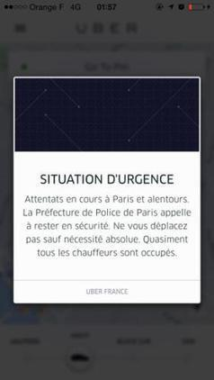 Uber Service Disrupted in Paris Amid Deadly Attacks - TIME | MOBILITY | Scoop.it