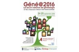 Gene@2016 : demandez le programme ! | CGMA Généalogie | Scoop.it