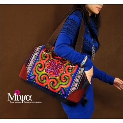 Miya Fashion Ethnic Embroidery Bag - Colorful life | folklore | Scoop.it
