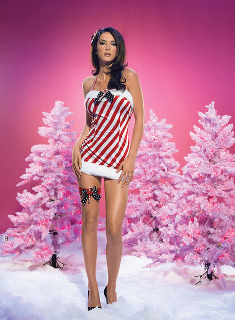 Sexy Candy Cane Velvet Dress –SexyLingeriesDeal.com | Christmas Costumes | Scoop.it