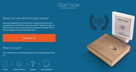 Visionect propose au quidam de créer sa propre application pour epaper | e-paper - e-ink - le papier électronique | Scoop.it