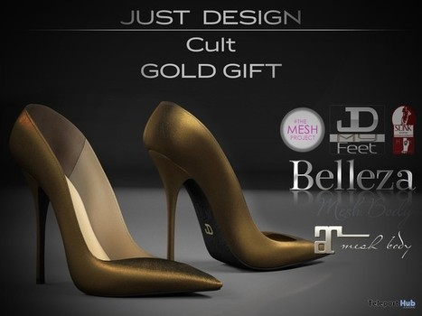Cult Gold Heels Gift by Just Design | Teleport Hub - Second Life Freebies | Second Life Freebies | Scoop.it