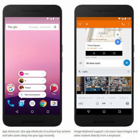 Android 7.1 Developer Preview Coming Soon with Image Keyboard Support, App Shortcuts API, etc… | Embedded Systems News | Scoop.it