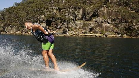 Hornsby's Rudi Stout water skiing 160km/h to celebrate 70th birthday | Barefoot Waterski | Scoop.it