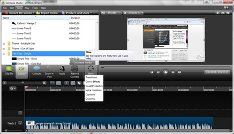 Toolkit: TechSmith Camtasia Studio 8 by Joe Ganci : Learning Solutions Magazine | Aprendiendo a Distancia | Scoop.it